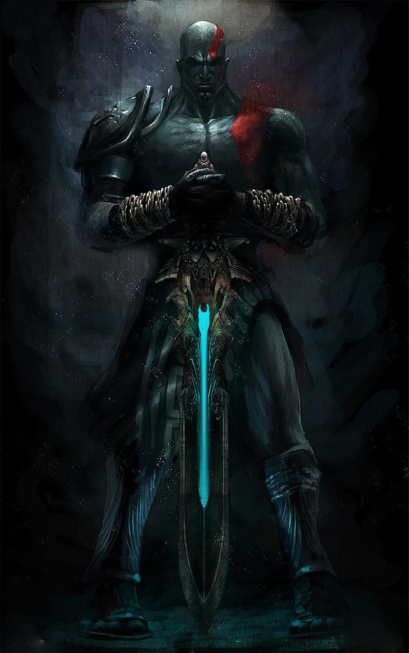 La Espada del Olimpo _ GOW_Por Jhotam Kratos_con_la_Espada_del_Olimpo