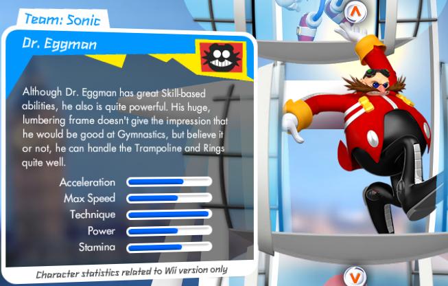 Mario et Sonic aux Jeux Olympiques de Londres 2012 (Wii) Eggmanstats