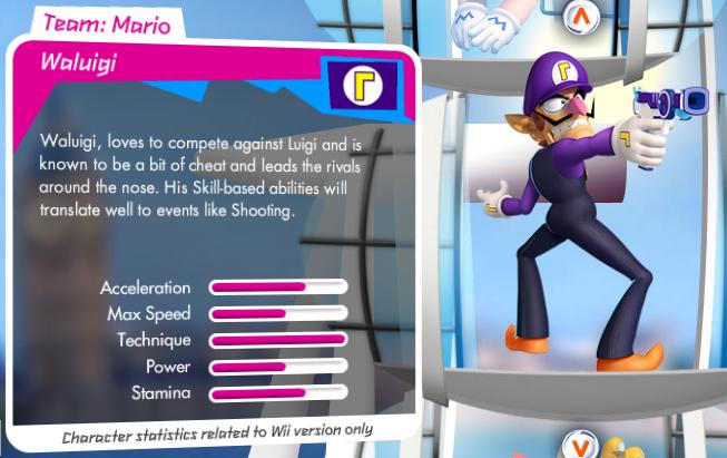 Mario et Sonic aux Jeux Olympiques de Londres 2012 (Wii) Waluigi_stats
