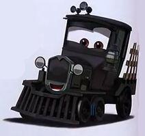 La voiture du film Cars 2 que vous aimeriez voir en miniature Mattel ! - Page 5 212px-Galloping_geargrinder