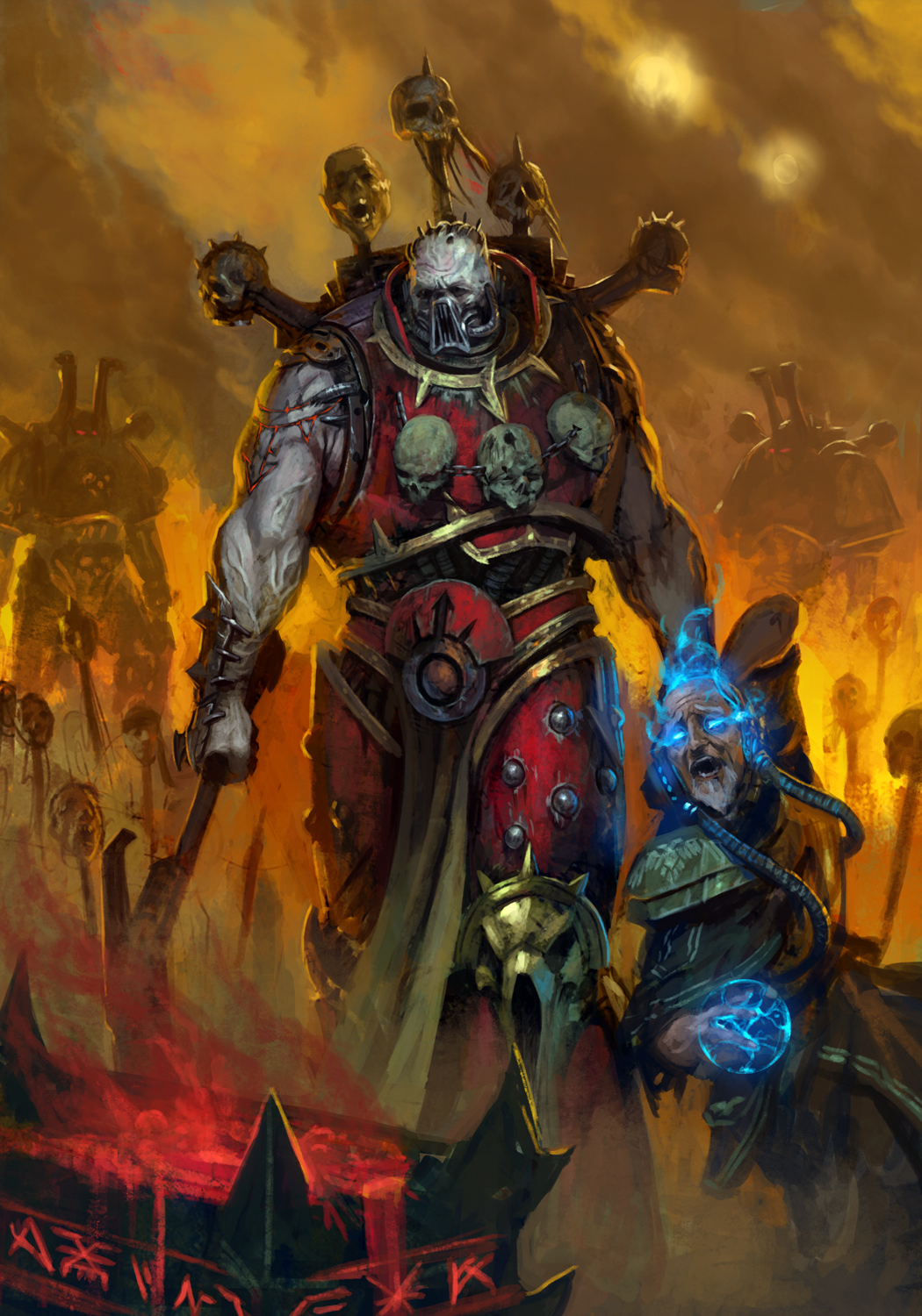 [W40K] Collection d'images : Space Marines du Chaos - Page 3 Skull_for_the_throne_by_diegogisbertllorens