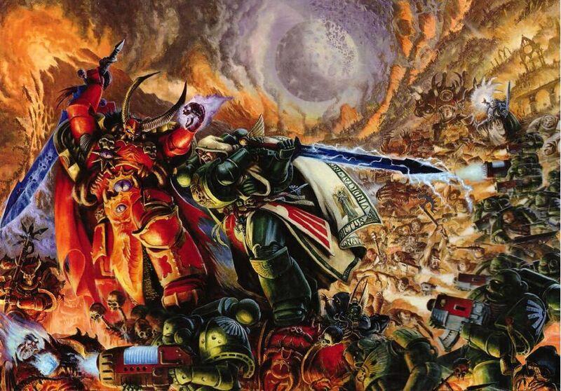 [W40K] Collection d'images : Space Marines du Chaos 800px-DA_vs._Crimson_Slaughter