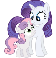Rarity a unicornio 194px-Lovely_sister_by_jennieoo-d4vf3qe