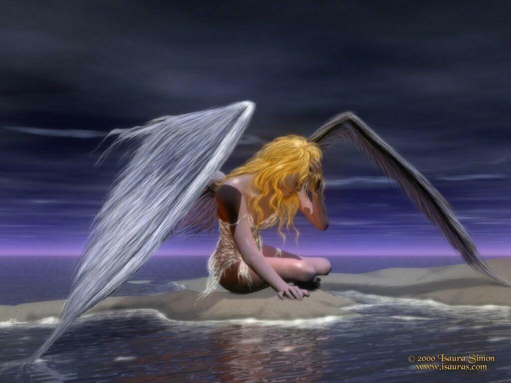 *** ANGELES *** Angel-Woman-angels-16681405-1024-768
