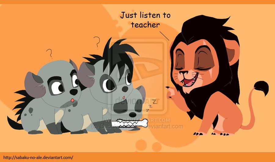 L'image qui roxe du saucisson Chibi-Hyenas-with-Scar-hyenas-from-lion-king-20628975-900-530