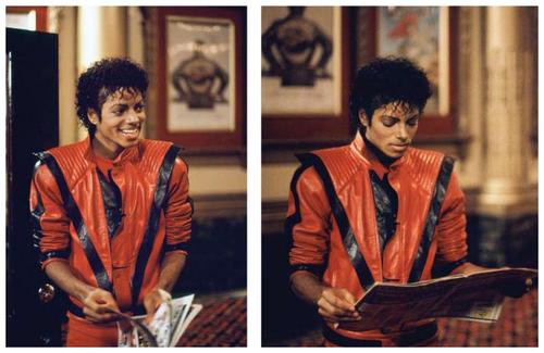 Immagini Inedite - Pagina 40 MJ-on-set-of-Thriller-michael-jackson-24314784-500-325