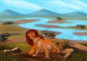 el rey leon 0 - Página 2 Mufasa-and-Sarabi-mufasa-and-sarabi-24376934-300-210