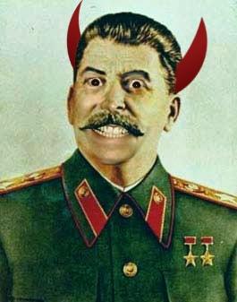 Sobre la manipulación fotografica en la URSS ¿verdad o mentira?  - Página 2 Stalin-demonio