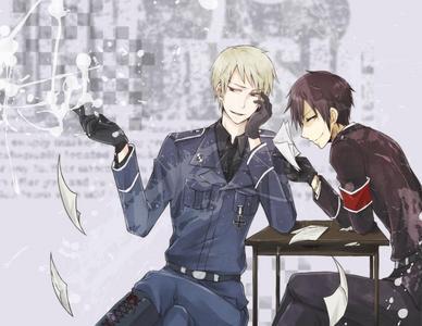 Le garçon le plus classe de tout les mangas  Prussia-and-Izaya-X3333333-anime-meets-anime-26073503-388-300