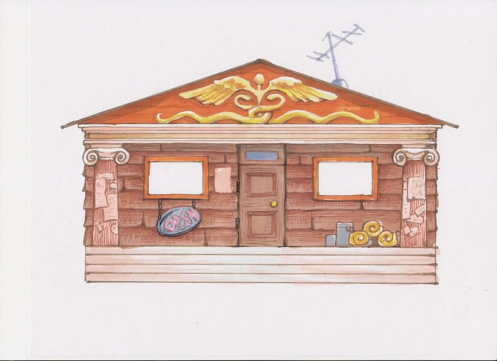 [Exterior] Chalé de Hermes Camp-Half-Blood-Cabins-percy-jackson-and-the-olympians-27650274-720-524