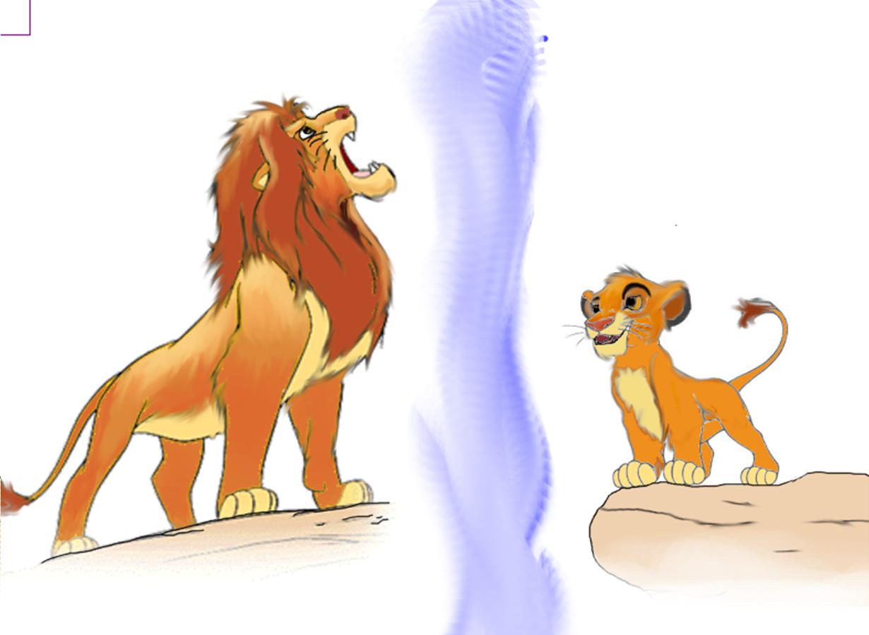 ¿Por qué crees que Simba es un cachorro en el interior? Simba-the-lion-king-29268277-1230-899