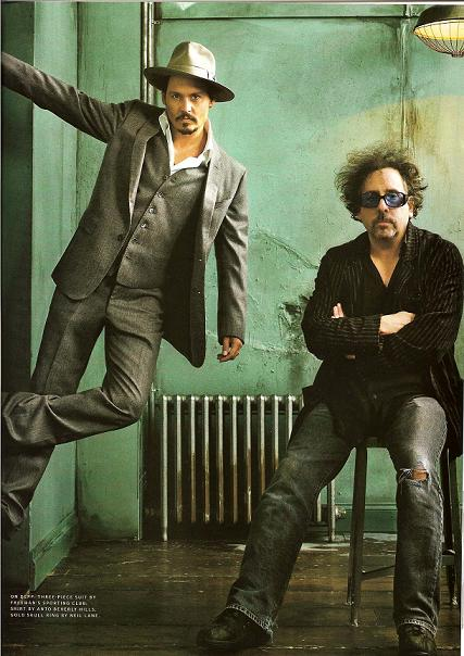 Director/Actor Fetiche Johnny-Depp-and-Tim-Burton-tim-burton-30822150-427-604