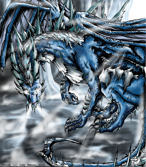 Pagos, the Ice Dragon Ice-dragon-griffins-and-dragons-31901668-500-572