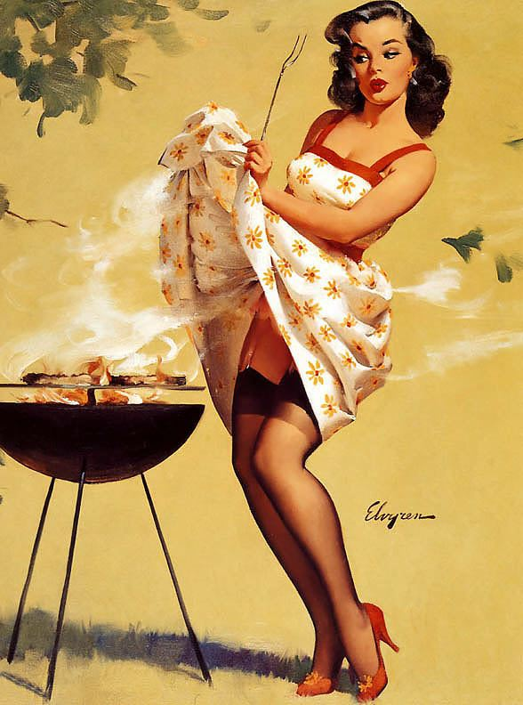 PIN UP devojke - Page 2 At-The-Barbecue-pin-up-girls-32549866-588-792