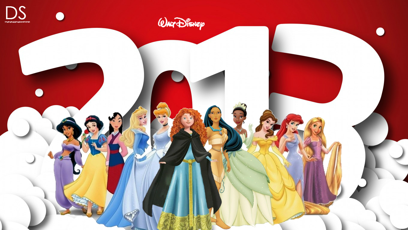 bonne année 2013 - Page 2 A-very-happy-and-prospeorus-New-Year-2013-disney-princess-33091200-1360-768