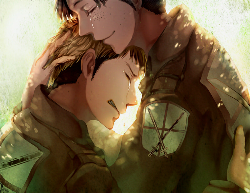 still waiting for you to come back. {JeanMarco}  Jean-and-Marco-Feels-c-jean-kirschtein-attack-on-titan-35598919-1000-772
