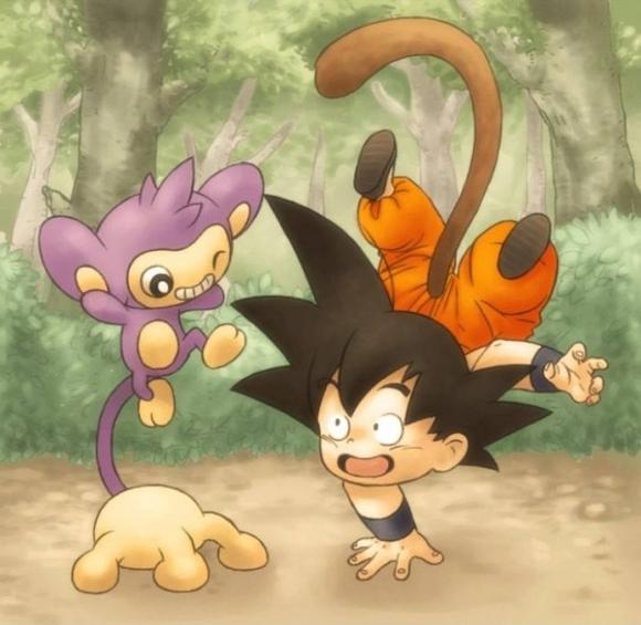 Le Topic à Flo' ~ BioWare - DanganRonpa - Page 2 Goku-and-Aipom-blaston96-38132326-580-565