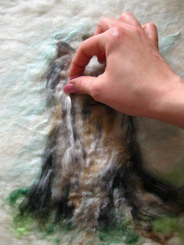 Мастер-класс по валянию обложки с Йорком, рисунок выполнен в технике шерстяной акварели (приваливани 0_2dfa7_8ae03ff1_XL