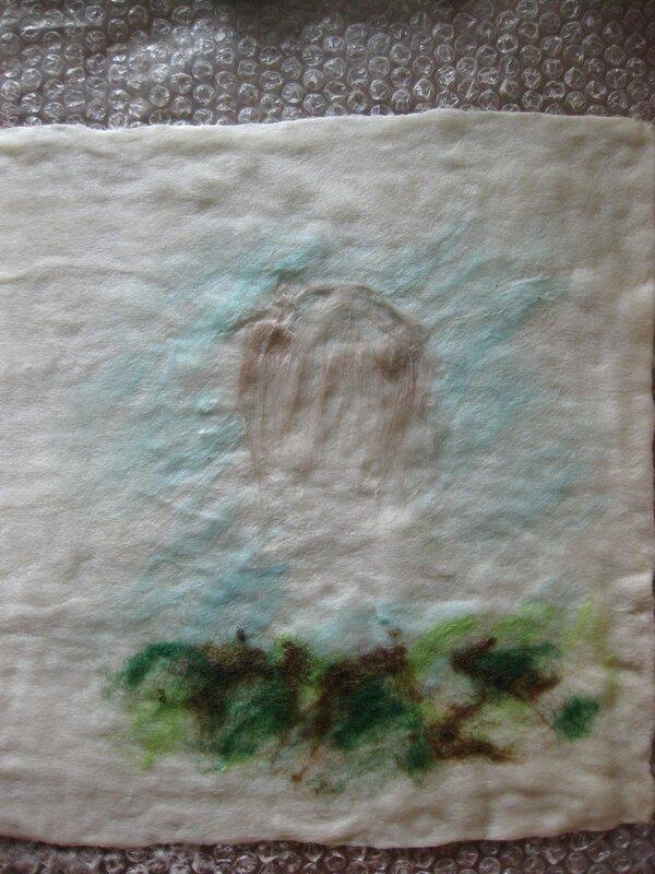 Мастер-класс по валянию обложки с Йорком, рисунок выполнен в технике шерстяной акварели (приваливани 0_2df98_e6498280_XL