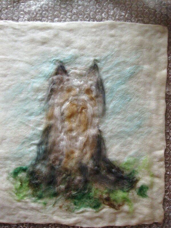 Мастер-класс по валянию обложки с Йорком, рисунок выполнен в технике шерстяной акварели (приваливани 0_2df9d_2dd96668_XL