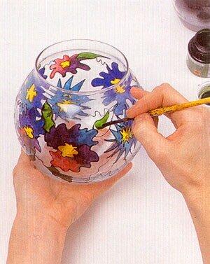 ваза с витражной росписью 0_404e9_e6ae3b91_L