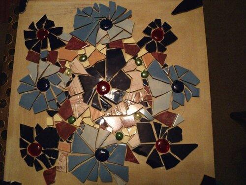 Декорирование столешницы битым кафелем....  0_3e647_19e91b8a_L