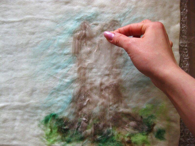 Мастер-класс по валянию обложки с Йорком, рисунок выполнен в технике шерстяной акварели (приваливани 0_2df9a_70fc795b_XL