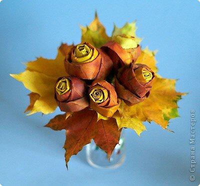 [МАСТЕР КЛАСС]Осенний букет из кленовых листьев своими руками 0_c5d7b_1ddcdd75_L