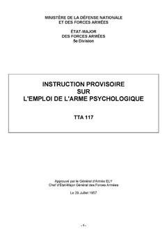 Les Guerres Psychologiques ou comment convaincre l'adversaire de céder sans avoir besoin de le combattre TTA-117s1-30276