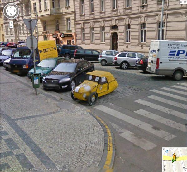 Kuriózne zábery na Google Street View  Google_street_view_praha_4