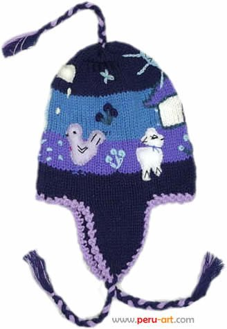 جاكيتات وقبعات للطفال CHULLOS_PERUVIAN_WINTER_HATS_FOR_CHILDREN