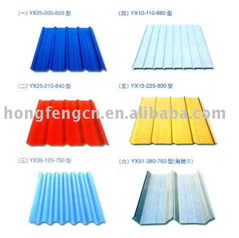 مقاول انشاءات معدنيه جمالون وصاج ودهانات جمالون Colored_corrugated_steel_sheet_steel_panels_galvanized_corrugated_sheets_color_steel_panels