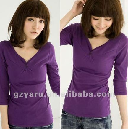 Shugo chara: el fin o el comienzo de la verdadera historia   Womens_purple_blouses_2012_cotton_summer_ladies_casual_girls