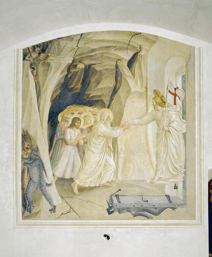 Le Samedi Saint... Descente-limbes-fresque-Fra-Angelico-1440-43-Florence-couvent-San-Marco-cellule-31_1_730_883