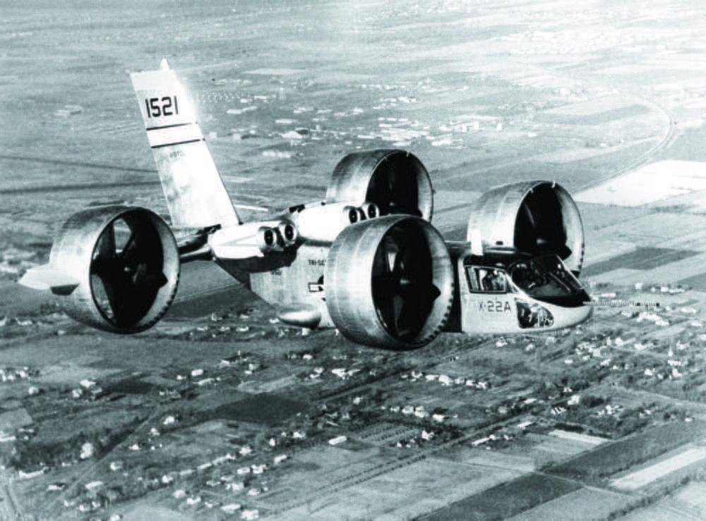 CAPITAL: 10 engins volants qui ont marqué l'histoire Bell-x-22-des-rotors-carenes