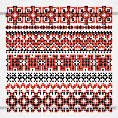 Схемы вышивки - Страница 2 3270987-cross-stitch-ethnic-ukraine-pattern