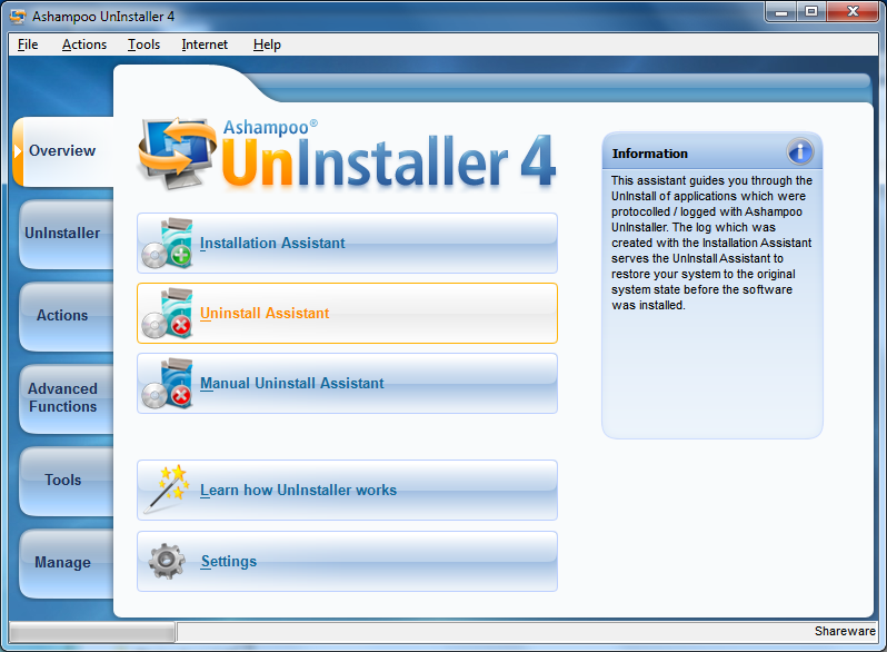 برنامج Ashampoo Uninstaller 4 v4.04 لازالة البرامج من الجهاز + مجموعة من البرامج الخدمية LargeImg