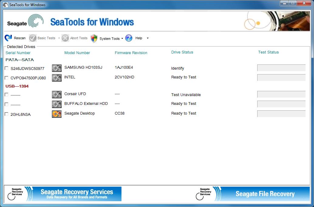 Seagate SeaTools 1.4.0.6 - Ένα χρήσιμο διαγνωστικό εργαλείο των δίσκων σας LargeImg