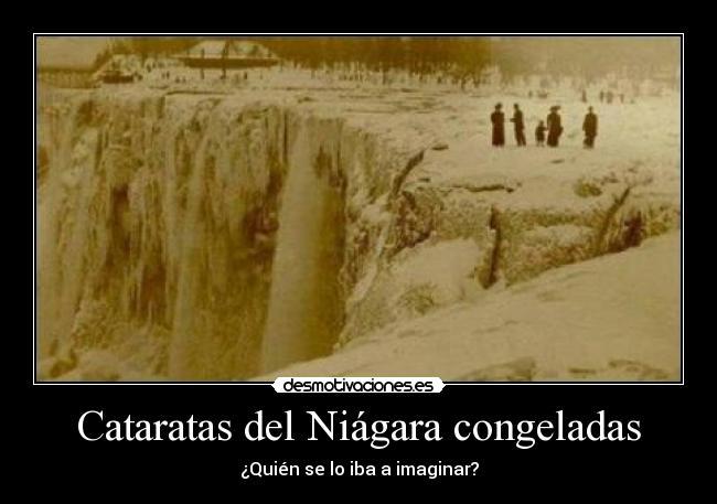 ¡¡¡ ATRAPAD@S EN EL HIELO... Cataratasniagaratotalmentecongeladas