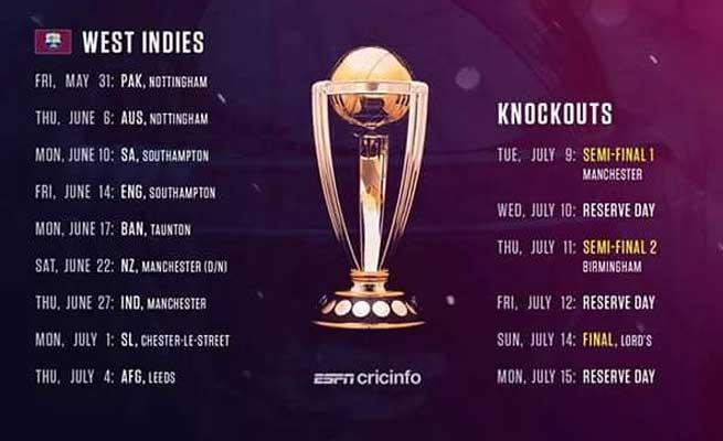 2019-ம் ஆண்டு உலக கோப்பை கிரிக்கெட்: ஜூன் 16-ம் தேதி இந்தியா-பாக். மோதல் Gallerye_18280758_2007574