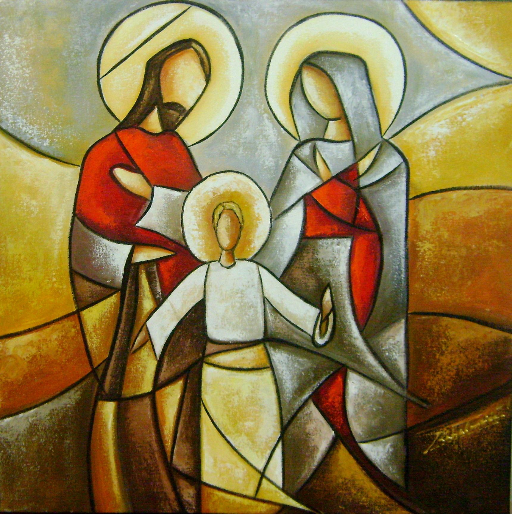 La Mision del Mohicano Pintura-sagrada-familia-40x40-cod