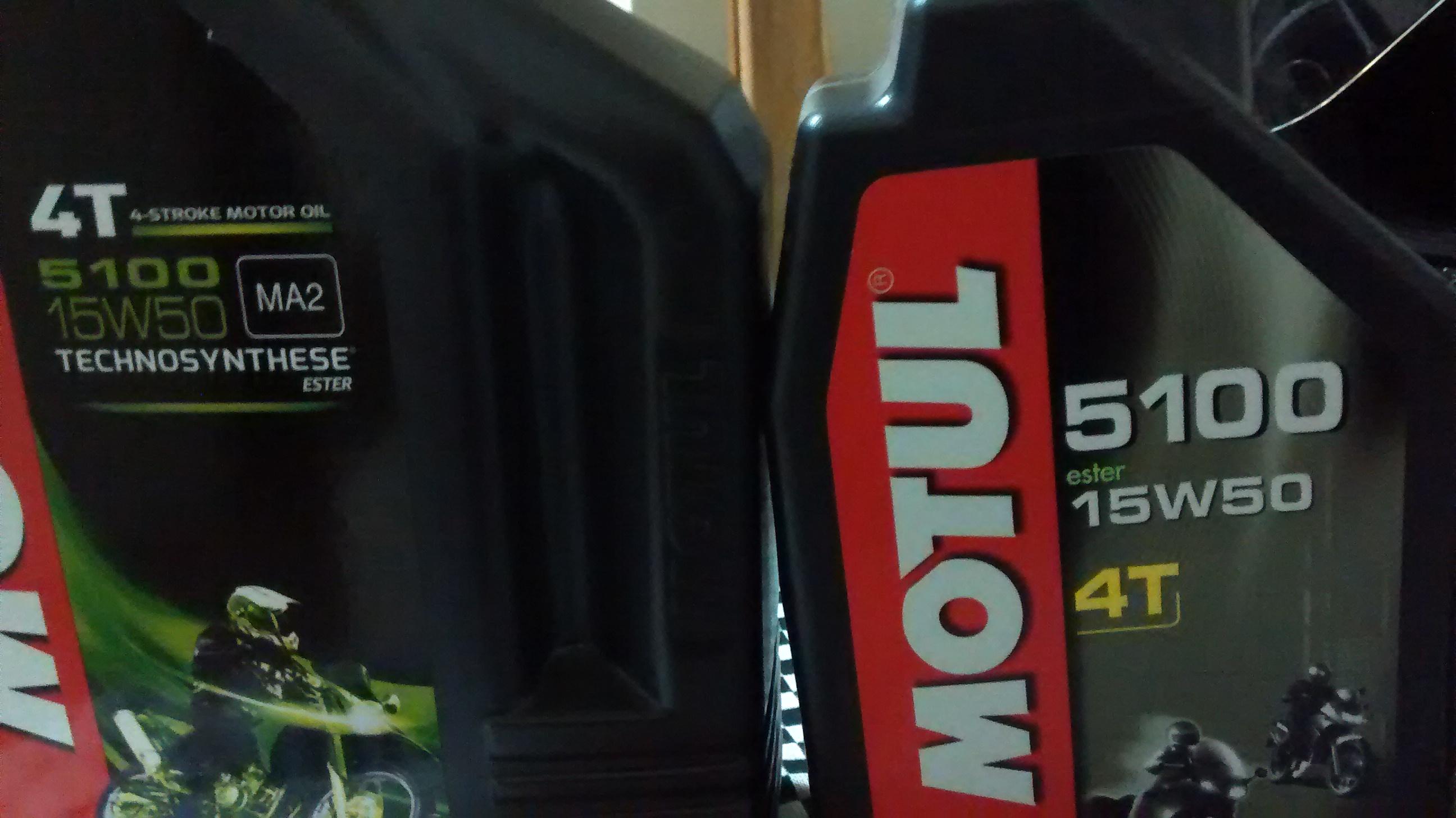 Misturar dois óleos motul 5100 15w50 MA e MA2 458740b828fcea741b5a2e84f64b8ddde0fc09fc
