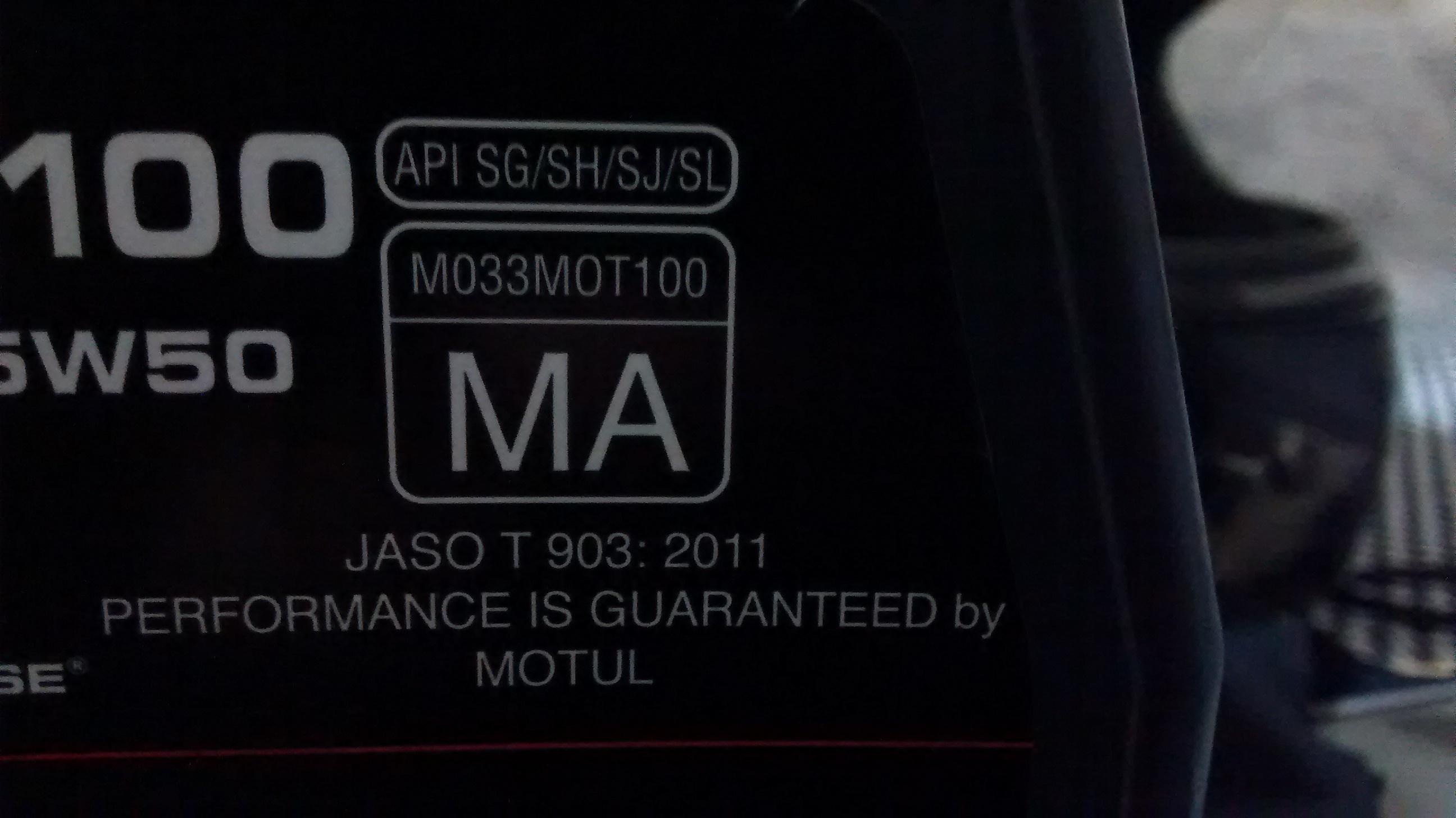 Misturar dois óleos motul 5100 15w50 MA e MA2 78e1f258bae52e6f493f38e6565a5ed0e0261e97