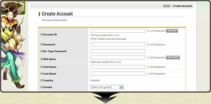 تحميل لعبة سيلك رود اونلاين Silkroad Online Client مجاناً Registration_how4_7