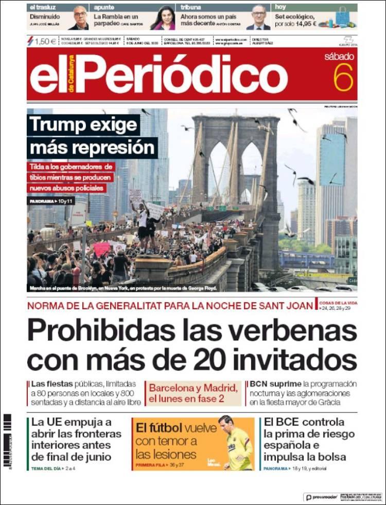 EL PERIODICO DE CATALUÑA 6-6-2020 Elperiodico.750