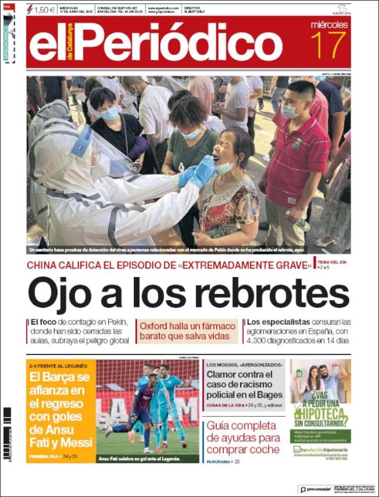 EL PERIODICO DE CATALUÑA 17-6-2020 Elperiodico.750