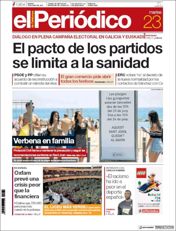 EL PERIODICO DE CATALUÑA 23-6-2020 Elperiodico.750