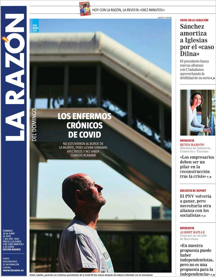 DIARIO LA RAZON  28-6-2020 Larazon.750