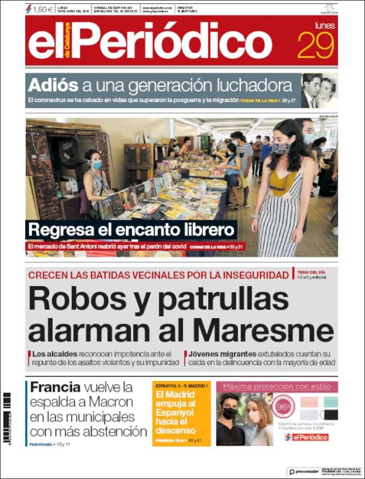 DIARIO EL PERIODICO DE CATALUÑA 29-6-2020 Elperiodico.750