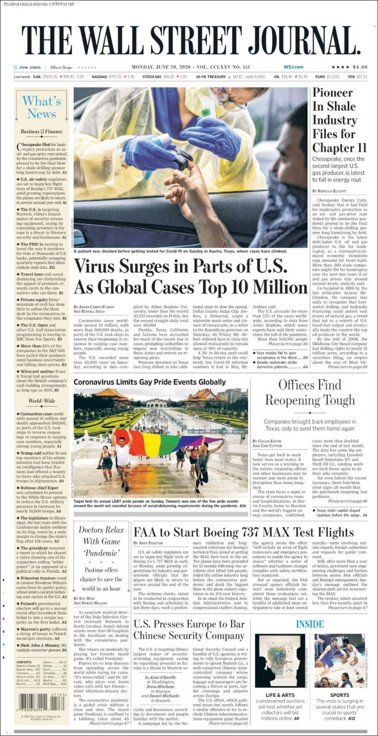 The Wall Street Journal 29-6-2020 Wsj.750